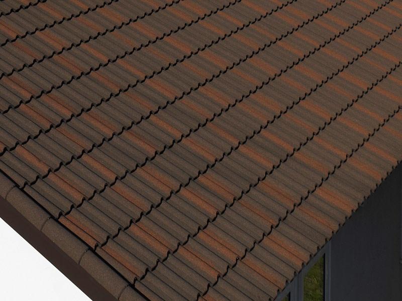 グラデーションが美しい、デクラ「ミラノ」のバーントアンバー色(設計・施工 協栄ハウス)